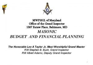 MWPHGL of Maryland Office of the Grand Inspector