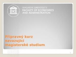 Ppravn kurz navazujc magistersk studium 1 N cl