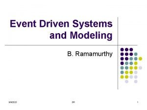 Event Driven Systems and Modeling B Ramamurthy 992020