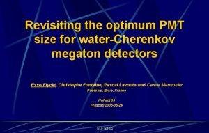 Revisiting the optimum PMT size for waterCherenkov megaton