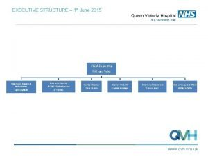 EXECUTIVE STRUCTURE 1 st June 2015 Chief Executive