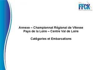 Annexe Championnat Rgional de Vitesse Pays de la