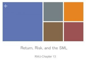Return Risk and the SML RWJChapter 13 Returns