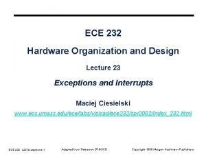 ECE 232 Hardware Organization and Design Lecture 23