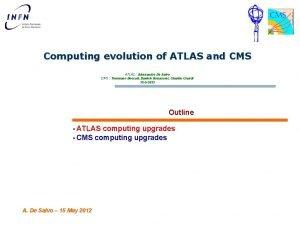 Computing evolution of ATLAS and CMS ATLAS Alessandro