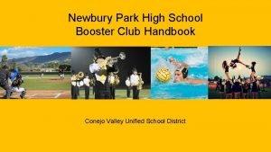 Newbury Park High School Booster Club Handbook Conejo