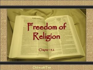 Comunicacin y Gerencia Freedom of Religion Chapter 19