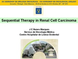 Sequential Therapy in Renal Cell Carcinoma J C