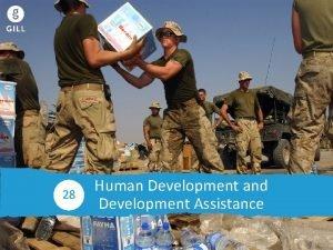 Human Development 28 Human Development and Development Assistance
