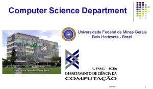 Computer Science Department Universidade Federal de Minas Gerais