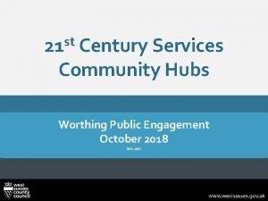 st 21 Century Services Community Hubs Worthing Public