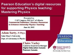 Pearson Educations digital resources for supporting Physics teaching
