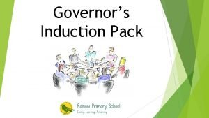 Governors Induction Pack Rainow Primary School Governor Induction
