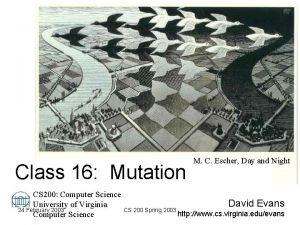 Class 16 Mutation M C Escher Day and