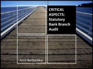 CRITICAL Understanding critical aspects of ASPECTS Statutory Audit