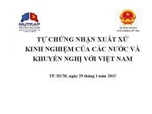 B CNG THNG NC CHXHCN VIT NAM T