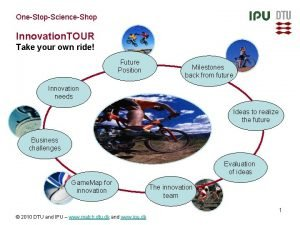 OneStopScienceShop Innovation TOUR Take your own ride Future