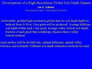 Development of a HighResolution Global Soil Depth Dataset