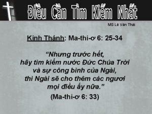 MS L Vn Thi Kinh Thnh Mathi 6