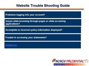 Website Trouble Shooting Guide Problems logging into your