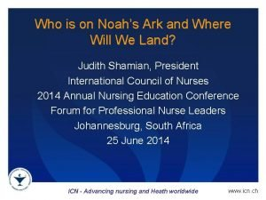 Who is on Noahs Ark and Where Will