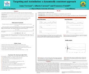 Targetting and Assimilation a dynamically consistent approach Anna