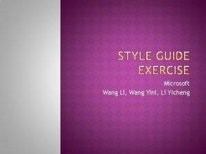 Microsoft Wang Li Wang Yini Li YIcheng This