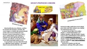 MICAHS PROPHECIES CONCERN Cards 105 110 BETHLEHEM OF