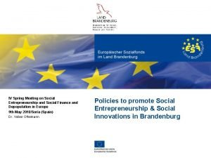 IV Spring Meeting on Social Entrepreneurship and Social
