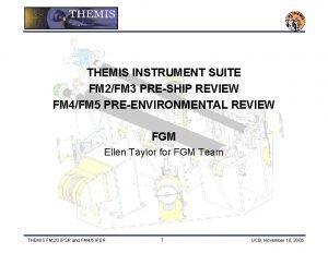 THEMIS INSTRUMENT SUITE FM 2FM 3 PRESHIP REVIEW