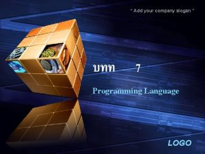 Add your company slogan 7 Programming Language LOGO