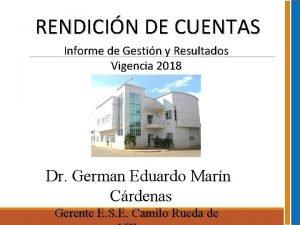 RENDICIN DE CUENTAS Informe de Gestin y Resultados
