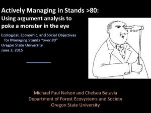 Actively Managing in Stands 80 Using argument analysis