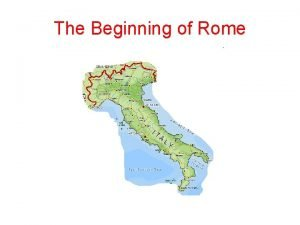 The Beginning of Rome 7 Hills of Rome