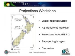 Projections Workshop Basic Projection Steps NZ Transverse Mercator