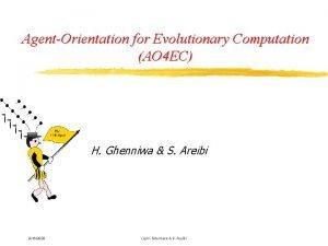 AgentOrientation for Evolutionary Computation AO 4 EC H
