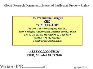 Global Research Dynamics Impact of Intellectual Property Rights
