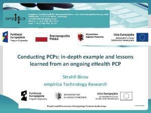 empirica Gesellschaft fr Kommunikations und Technologieforschung mb H