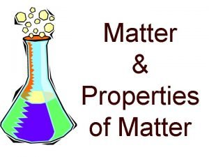 Matter Properties of Matter Matter anything that has