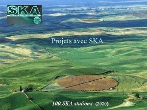 Projets avec SKA 100 SKA stations 2020 Telescope