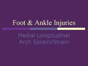 Foot Ankle Injuries Medial Longitudinal Arch SprainStrain Introduction