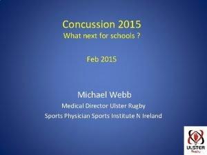 Concussion 2015 What next for schools Feb 2015