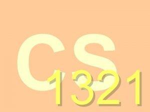 CS 1321 CS 1321 Introduction to Programming Georgia