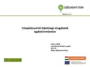 TMOP5 2 1 Teleplsszint fejlettsgi vizsglatok egybenemesse Fekete