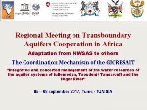 Regional Meeting on Transboundary Aquifers Cooperation in Africa