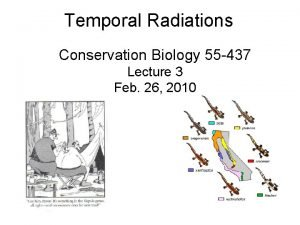Temporal Radiations Conservation Biology 55 437 Lecture 3