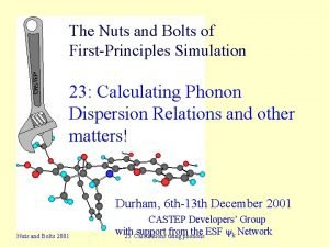 The Nuts and Bolts of FirstPrinciples Simulation 23