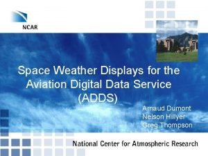 Space Weather Displays for the Aviation Digital Data