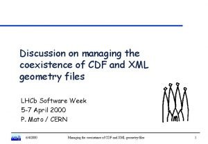 Discussion on managing the coexistence of CDF and