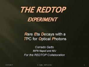 THE REDTOP EXPERIMENT Rare Eta Decays with a